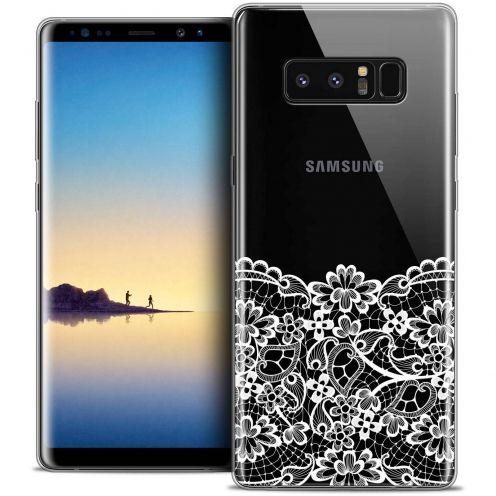 "Carcasa Crystal Gel Extra Fina Samsung Galaxy Note 8 (6.3"") Spring Bas dentelle"