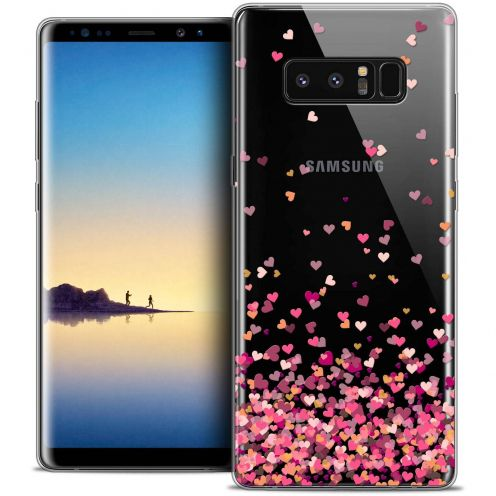 "Coque Crystal Gel Samsung Galaxy Note 8 (6.3"") Extra Fine Sweetie - Heart Flakes"