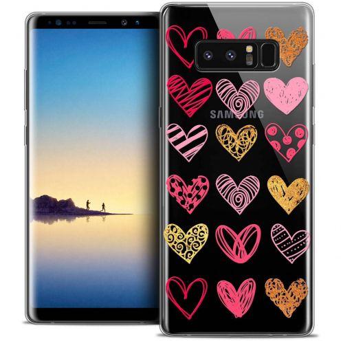 "Carcasa Crystal Gel Extra Fina Samsung Galaxy Note 8 (6.3"") Sweetie Doodling Hearts"