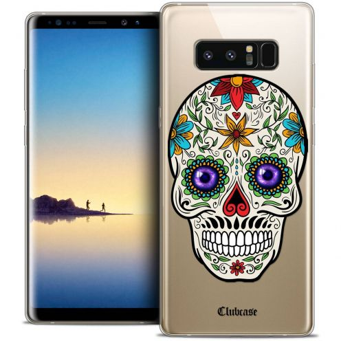 "Coque Crystal Gel Samsung Galaxy Note 8 (6.3"") Extra Fine Skull - Maria's Flower"