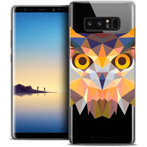 "Coque Crystal Gel Samsung Galaxy Note 8 (6.3"") Extra Fine Polygon Animals - Hibou"