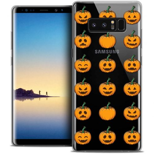 "Carcasa Crystal Gel Extra Fina Samsung Galaxy Note 8 (6.3"") Halloween Smiley Citrouille"