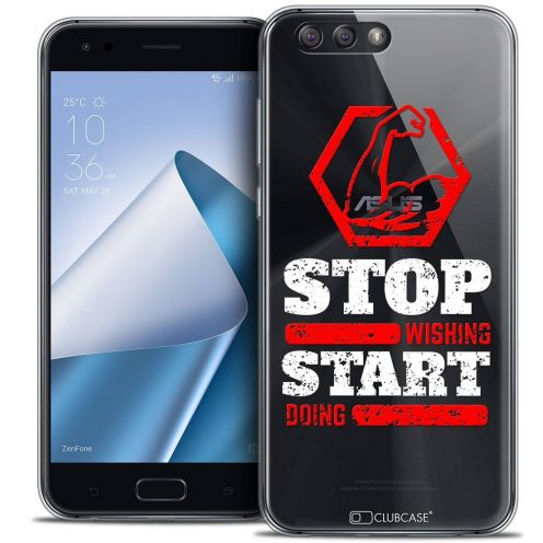 "Coque Crystal Gel Asus Zenfone 4 ZE554KL (5.5"") Extra Fine Quote - Start Doing"