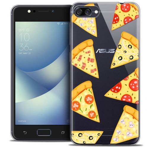 "Carcasa Crystal Gel Extra Fina Asus Zenfone 4 MAX ZC520KL (5.2"") Foodie Pizza"