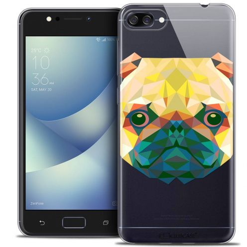 "Coque Crystal Gel Asus Zenfone 4 MAX ZC520KL (5.2"") Extra Fine Polygon Animals - Chien"