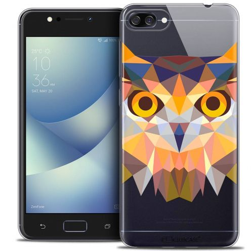 "Coque Crystal Gel Asus Zenfone 4 MAX ZC520KL (5.2"") Extra Fine Polygon Animals - Hibou"