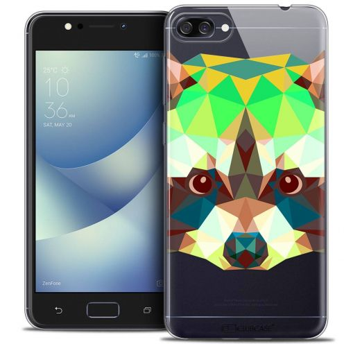 "Carcasa Crystal Gel Extra Fina Asus Zenfone 4 MAX ZC520KL (5.2"") Polygon Animals Raton Laveur"