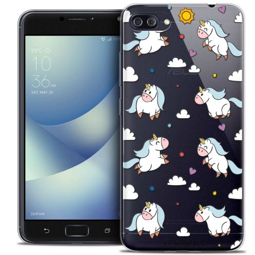 "Coque Crystal Gel Asus Zenfone 4 MAX PLUS / Pro ZC554KL (5.5"") Extra Fine Fantasia - Licorne In the Sky"