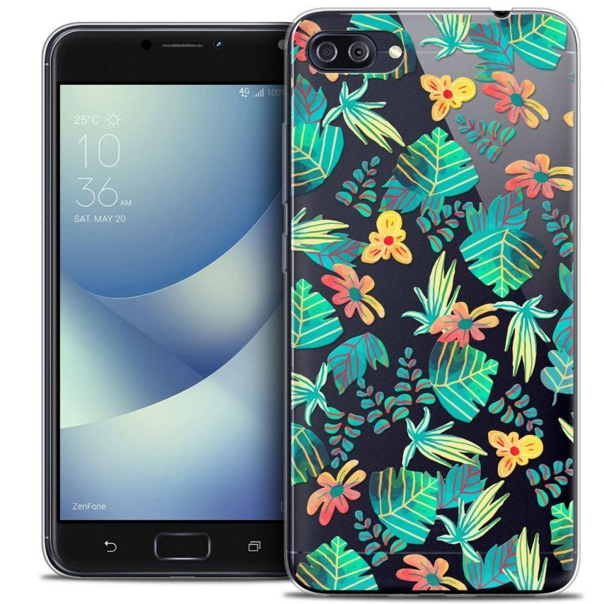 "Coque Crystal Gel Asus Zenfone 4 MAX PLUS / Pro ZC554KL (5.5"") Extra Fine Spring - Tropical"