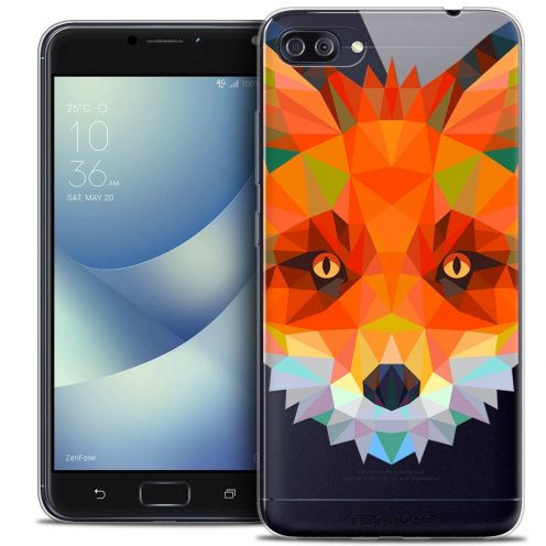 "Coque Crystal Gel Asus Zenfone 4 MAX PLUS / Pro ZC554KL (5.5"") Extra Fine Polygon Animals - Renard"