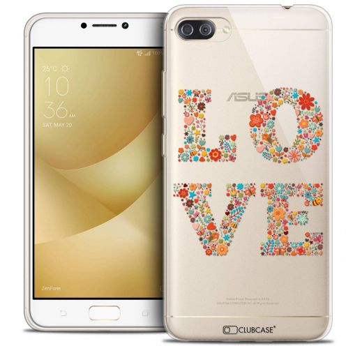 "Coque Crystal Gel Asus Zenfone 4 MAX PLUS / Pro ZC554KL (5.5"") Extra Fine Summer - Love Flowers"