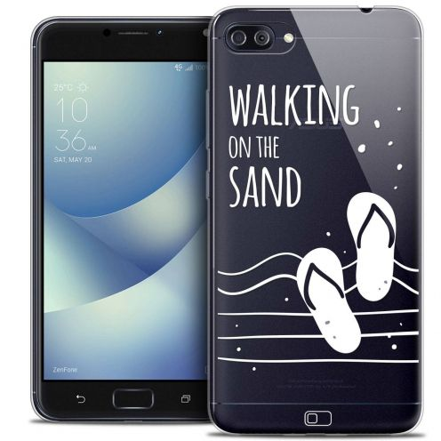 "Carcasa Crystal Gel Extra Fina Asus Zenfone 4 MAX PLUS / Pro ZC554KL (5.5"") Summer Walking on the Sand"