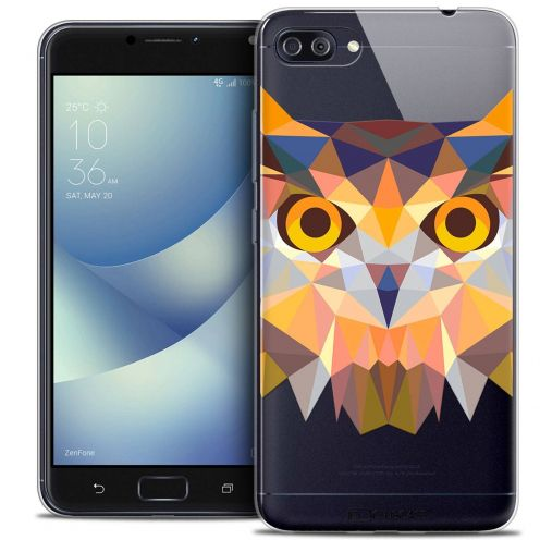 "Coque Crystal Gel Asus Zenfone 4 MAX PLUS / Pro ZC554KL (5.5"") Extra Fine Polygon Animals - Hibou"