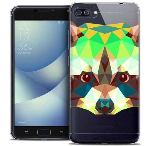 "Coque Crystal Gel Asus Zenfone 4 MAX PLUS / Pro ZC554KL (5.5"") Extra Fine Polygon Animals - Raton Laveur"