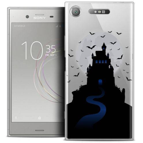 "Coque Crystal Gel Sony Xperia XZ1 (5.2"") Extra Fine Halloween - Castle Nightmare"