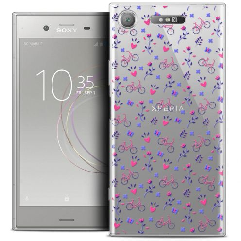 "Carcasa Crystal Gel Extra Fina Sony Xperia XZ1 (5.2"") Love Bicycle"