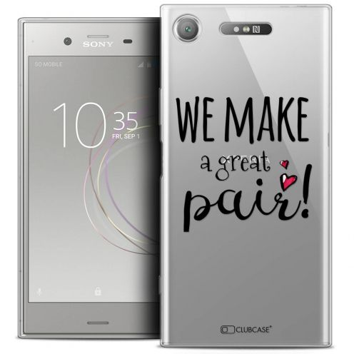 "Coque Crystal Gel Sony Xperia XZ1 (5.2"") Extra Fine Love - We Make Great Pair"