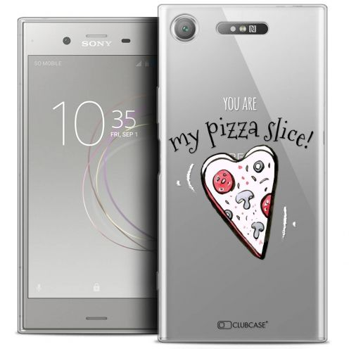 "Coque Crystal Gel Sony Xperia XZ1 (5.2"") Extra Fine Love - My Pizza Slice"