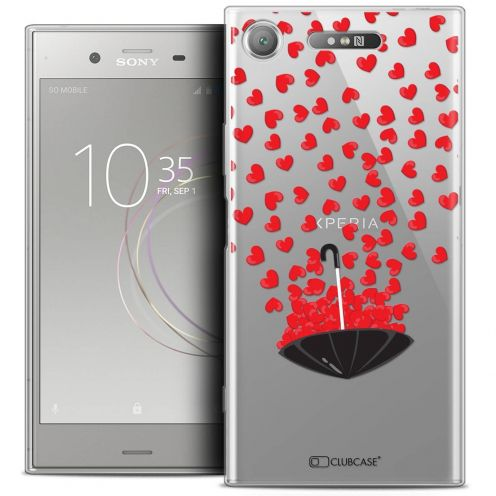 """Coque Crystal Gel Sony Xperia XZ1 (5.2"""") Extra Fine Love - Parapluie d'Amour"""