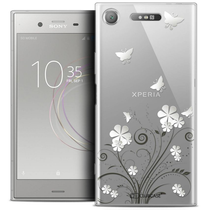 "Coque Crystal Gel Sony Xperia XZ1 (5.2"") Extra Fine Summer - Papillons"