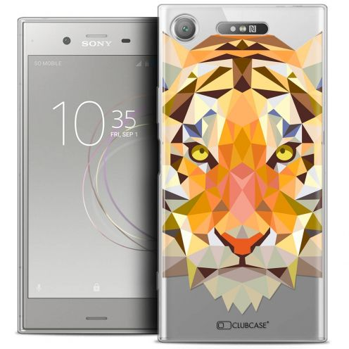 "Carcasa Crystal Gel Extra Fina Sony Xperia XZ1 (5.2"") Polygon Animals Tigre"