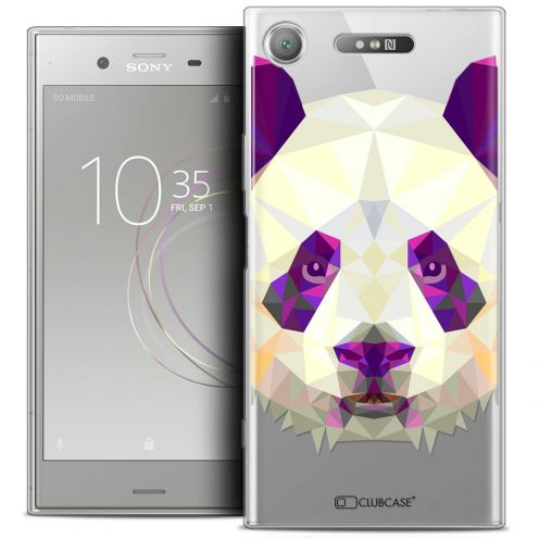 "Coque Crystal Gel Sony Xperia XZ1 (5.2"") Extra Fine Polygon Animals - Panda"