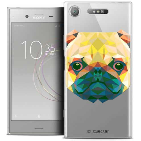 "Carcasa Crystal Gel Extra Fina Sony Xperia XZ1 (5.2"") Polygon Animals Perro"