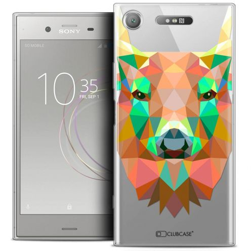 "Carcasa Crystal Gel Extra Fina Sony Xperia XZ1 (5.2"") Polygon Animals Ciervo"