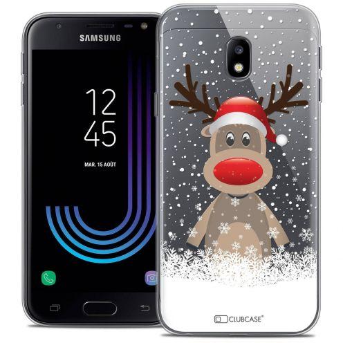 """Coque Crystal Gel Samsung Galaxy J3 2017 J320 (5"""") Extra Fine Noël 2017 - Cerf au Bonnet"""