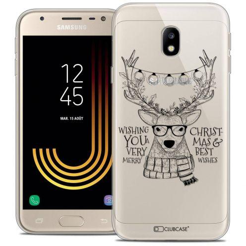 "Coque Crystal Gel Samsung Galaxy J3 2017 J320 (5"") Extra Fine Noël 2017 - Cerf Hipster"