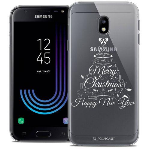 "Coque Crystal Gel Samsung Galaxy J3 2017 J320 (5"") Extra Fine Noël 2017 - Calligraphie"