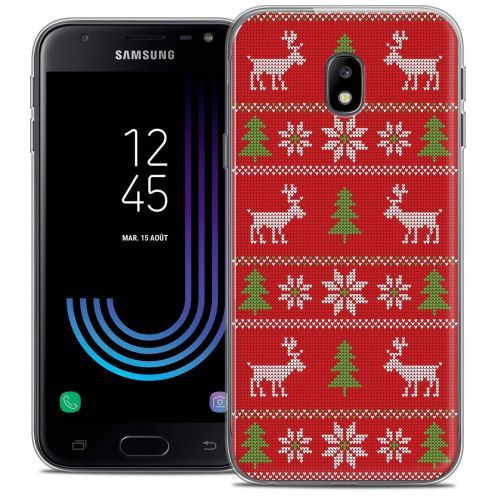 """Coque Crystal Gel Samsung Galaxy J3 2017 J320 (5"""") Extra Fine Noël 2017 - Couture Rouge"""