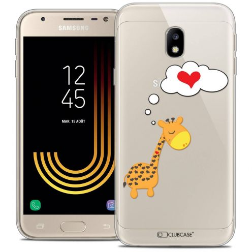"Coque Crystal Gel Samsung Galaxy J3 2017 J320 (5"") Extra Fine Love - Girafe Amoureuse"