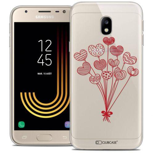 "Coque Crystal Gel Samsung Galaxy J3 2017 J320 (5"") Extra Fine Love - Ballons d'amour"