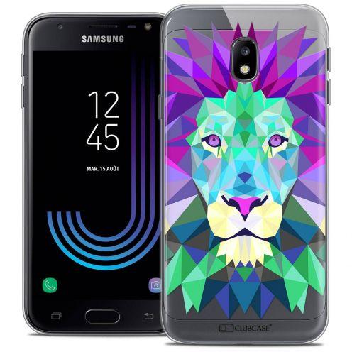 """Coque Crystal Gel Samsung Galaxy J3 2017 J320 (5"""") Extra Fine Polygon Animals - Lion"""