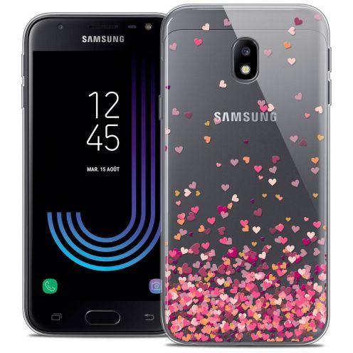"Coque Crystal Gel Samsung Galaxy J3 2017 J320 (5"") Extra Fine Sweetie - Heart Flakes"
