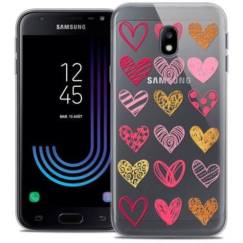 "Coque Crystal Gel Samsung Galaxy J3 2017 J320 (5"") Extra Fine Sweetie - Doodling Hearts"