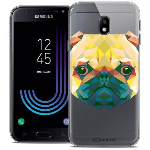 "Coque Crystal Gel Samsung Galaxy J3 2017 J320 (5"") Extra Fine Polygon Animals - Chien"