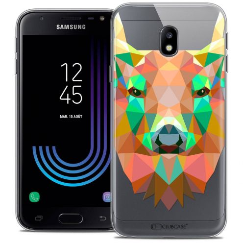 """Coque Crystal Gel Samsung Galaxy J3 2017 J320 (5"""") Extra Fine Polygon Animals - Cerf"""