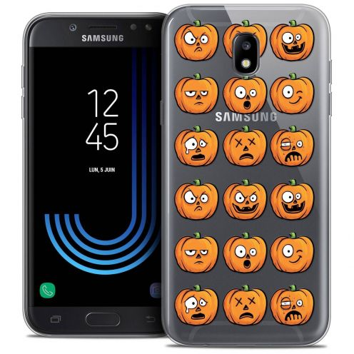 "Coque Crystal Gel Samsung Galaxy J5 2017 J530 (5.2"") Extra Fine Halloween - Cartoon Citrouille"