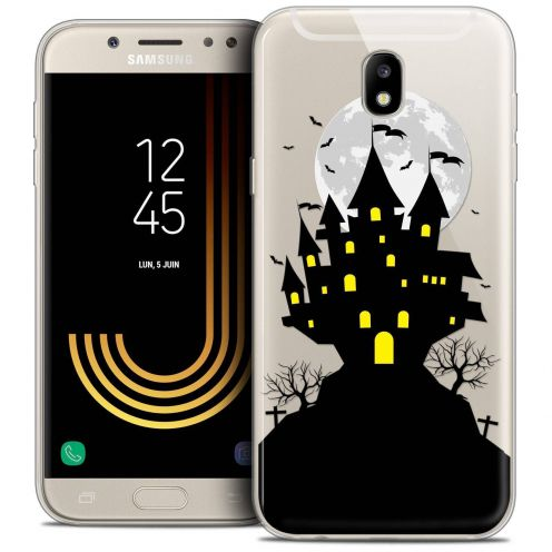 "Coque Crystal Gel Samsung Galaxy J5 2017 J530 (5.2"") Extra Fine Halloween - Castle Scream"