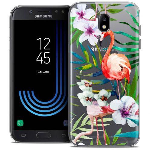 """Coque Crystal Gel Samsung Galaxy J5 2017 J530 (5.2"""") Extra Fine Watercolor - Tropical Flamingo"""