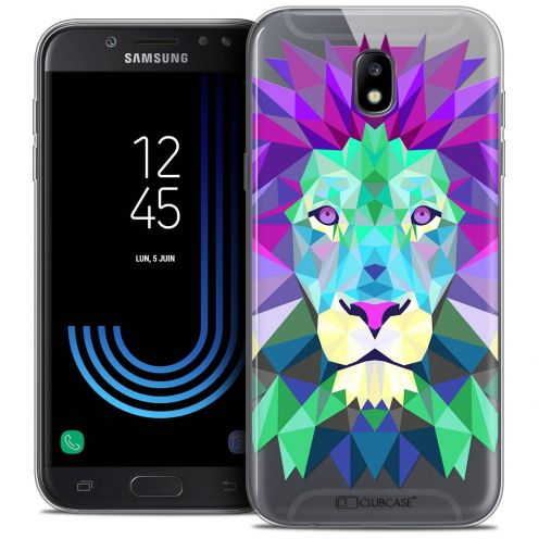 "Coque Crystal Gel Samsung Galaxy J5 2017 J530 (5.2"") Extra Fine Polygon Animals - Lion"
