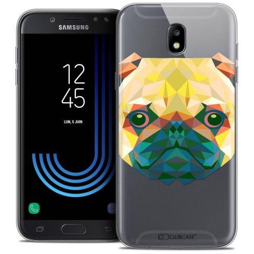 "Coque Crystal Gel Samsung Galaxy J5 2017 J530 (5.2"") Extra Fine Polygon Animals - Chien"