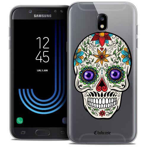 "Coque Crystal Gel Samsung Galaxy J5 2017 J530 (5.2"") Extra Fine Skull - Maria's Flower"