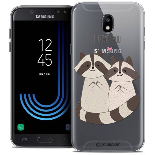 "Coque Crystal Gel Samsung Galaxy J7 2017 J730 (5.5"") Extra Fine Sweetie - Racoon Love"