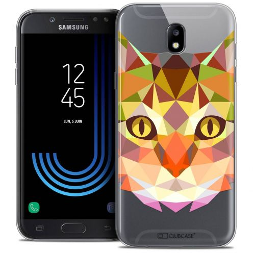 """Coque Crystal Gel Samsung Galaxy J7 2017 J730 (5.5"""") Extra Fine Polygon Animals - Chat"""