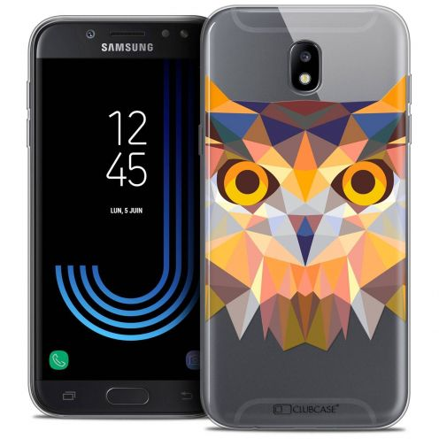 "Coque Crystal Gel Samsung Galaxy J7 2017 J730 (5.5"") Extra Fine Polygon Animals - Hibou"