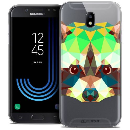 "Coque Crystal Gel Samsung Galaxy J7 2017 J730 (5.5"") Extra Fine Polygon Animals - Raton Laveur"