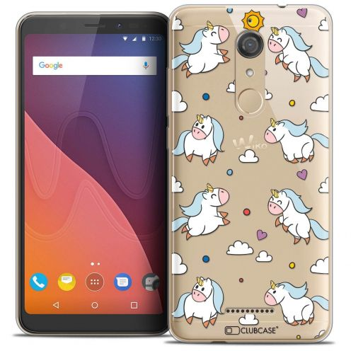 "Coque Crystal Gel Wiko View (5.7"") Extra Fine Fantasia - Licorne In the Sky"
